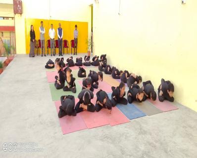 Yoga Presentation during Morning Assembly - KN No. 02 Itanagar